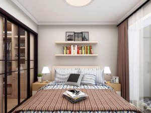北欧风格卧室背景墙布置图片