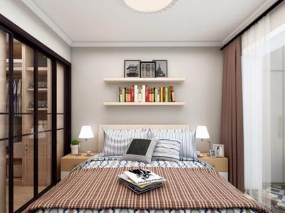 北歐風格臥室背景墻布置圖片