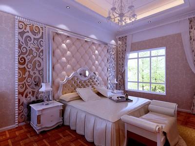 歐式風格臥室背景墻布置圖