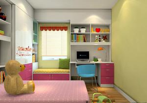 三居室兒童房飄窗裝修效果圖