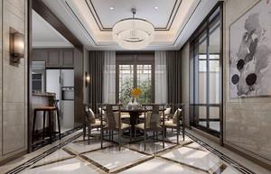 三居室中式风格吊顶装修设计效果图