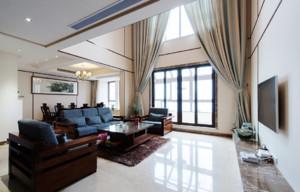 现代简约复式家庭客厅装修效果图
