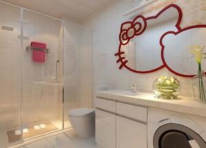 现代清新风格卫生间装修效果图