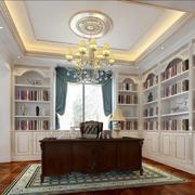 别墅欧式书房装修效果图