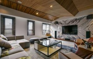 现代简约风格别墅豪宅客厅装修效果图