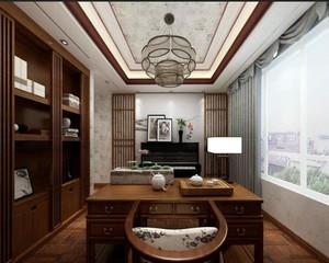 现代古典风格书房装修效果图