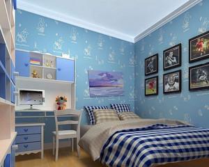 欧美简约风格儿童房装修效果图