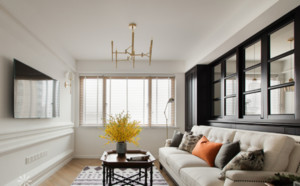 美式经典风格客厅装修效果图