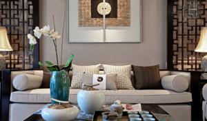 现代中式风格大客厅装修效果图