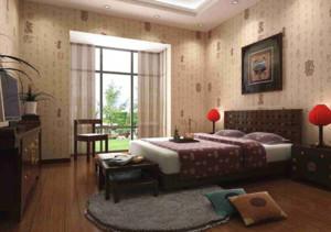 中式风格卧室背景墙布置图片赏析