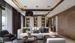 现代简约中式风格客厅装修效果图