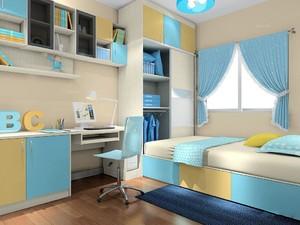 多功能书房兼卧室一体效果图