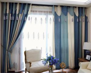 现代自然风格窗帘效果图