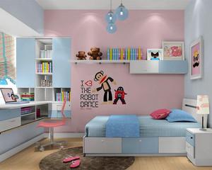 简约风卡通儿童房装修效果图
