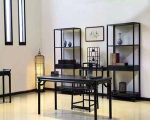 中式書房家具擺放效果圖