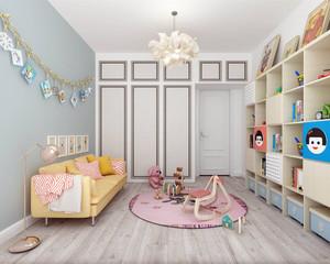 浅色系简约风格儿童房装修效果图
