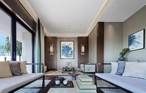 現代中式風格小客廳裝修效果圖