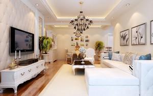现代欧式混搭客厅装修效果图