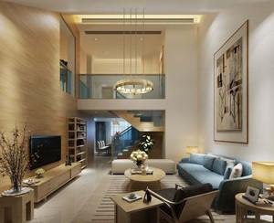 对比感现代别墅客厅装修效果图