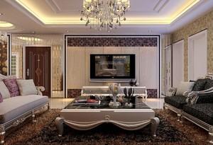 深色系欧式客厅装修效果图