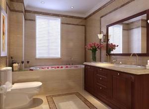 现代风格卫生间浴缸装修设计
