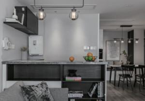 现代简约二居室吧台装修效果图
