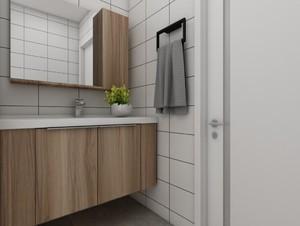 北欧风格定制浴室柜效果图