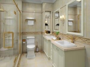 卫生间双台盆浴室柜效果图