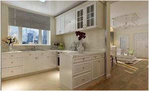 厨房白色橱柜装修图