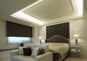 美式风格卧室背景墙装修设计效果图赏析
