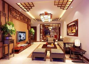 中式風客廳裝修效果圖