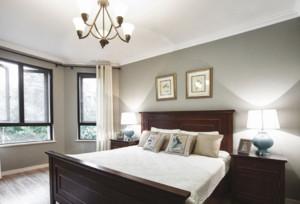 唯美舒适美式风格卧室背景墙装修图片