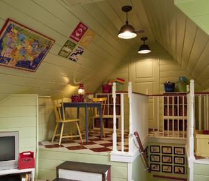 三角形阁楼做儿童娱乐区装修效果图