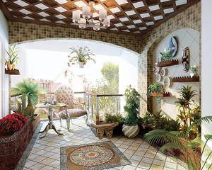 室内花园布置设计效果图