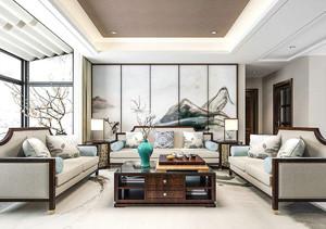 中国风客厅装修设计图