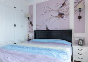 美式别墅卧室背景墙装修效果图赏析