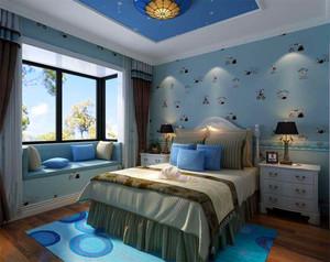 地中海风格儿童房飘窗装修