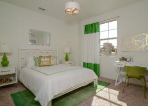 三居美式田园风格卧室背景墙装修图片赏析