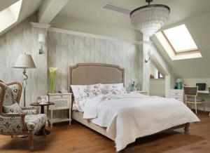 现代美式风格主卧背景墙装修效果图赏析