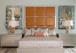 美式乡村风格卧室背景墙装修图片