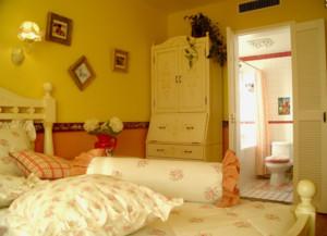 美式乡村卧室背景墙装修效果图