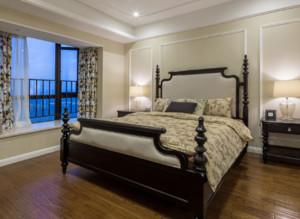 美式别墅卧室背景墙装修效果图