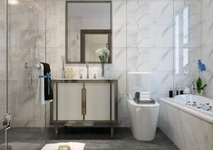 别墅现代卫生间装修样板间