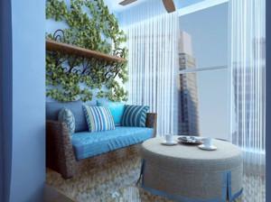 现代地中海风格阳台装修布置图片