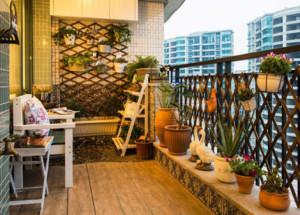 现代地中海阳台装修布置效果图赏析