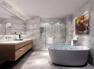 现代别墅卫生间大理石装修图片