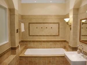 美式卫生间墙壁造型设计效果图
