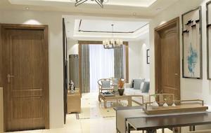 中式淺色系客廳裝修效果圖