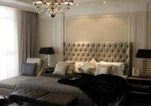 欧式风格别墅卧室背景墙装修效果图
