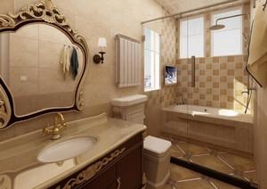 法式风格卫生间设计效果图